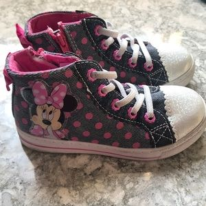 Toddler Girl's Minnie Mouse Hightop Sneakers